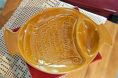 CHEESE DIP Ceramic Plate Holiday Entertaining Serving Tray-Recipe Inscribed