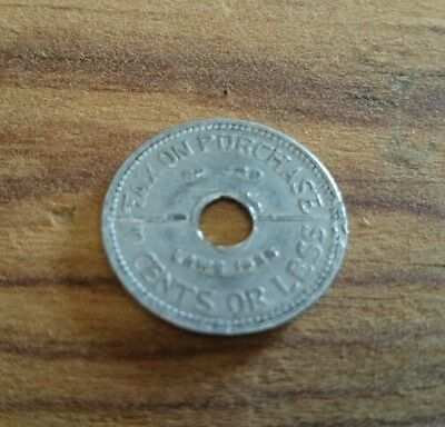 Ten cent or less Washington state tax token 1935