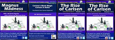 A Magnum of Magnus - 4 DVDs - Chess Lecture Chess DVD