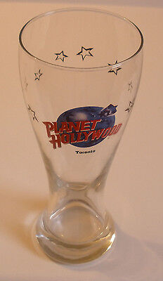 "Planet Hollywood Toronto Tall Pilsner glass (Beer / Cocktail GLASS) - 8.5"" tall"