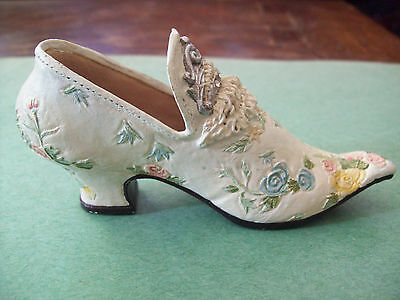 POPULAR IMPORTS - NOSTALGIA  SHOE  - VICTORIAN STYLE  WITH FLOWERS
