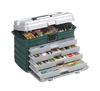 Plano 758 Large 4 Drawer Tackle Box With Removable Tackle Racks