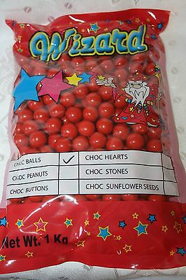 Wizard Chocolate Balls RED COLOR 1kg bulk bag