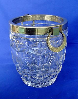 VINTAGE E&L ICE BUCKET - LEAD CRYSTAL GLASS - MADE IN FRANCE - UNIQUE