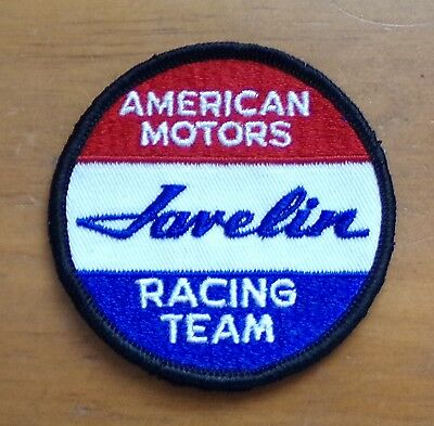 American Motors  Javelin  Racing Team Embroidered Patch Nos
