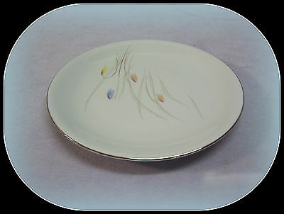 "VTG. 1962 KPM KRISTER GERMANY 7 5/8"" SALAD PLATE PLATINUM #707 AUTHENTIC IMPORT"