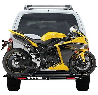 Mototote Moto Tote Sport Bike Motorcycle Carrier Hitch Rack Ramp Led Light