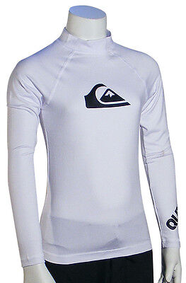 Quiksilver Boy's All Time LS Rash Guard - White - New