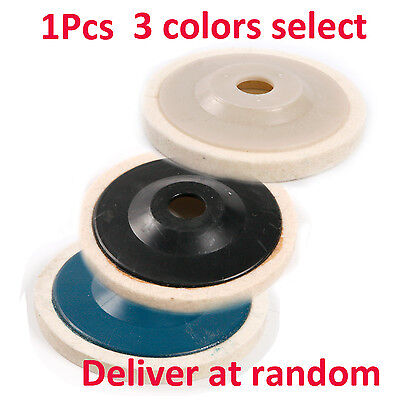 1X 4''Felt Wool Buffing Angle Grinder Wheel Felt Polishing Disc Pad Color Select