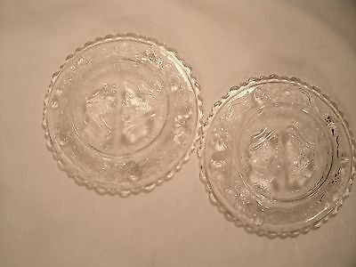 Set of 2 Unique Vintage The Wedding Day / Three Weeks After Small Glass Plates