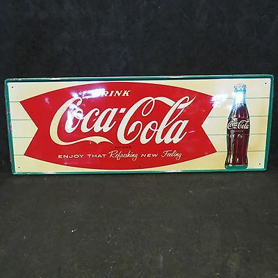 "COCA-COLA ""Refreshing New Feeling"" Single Sided Tin Sign"