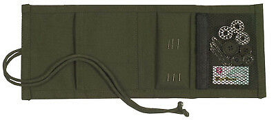 sewing kit military style olive drab canvas with content rothco 1123
