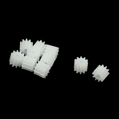10 Pcs White Plastic 10 Teeth Electrical Models Toothed Wheels Gears