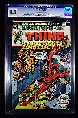Marvel Two-In-One 3 CGC 8.5 OW-WP The Thing & Daredevil, 5/74, Black Widow