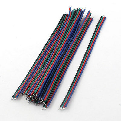 15Pcs 15cm 4-Wire Double Ends Tin-plated Breadboard Jumper Cable Wire