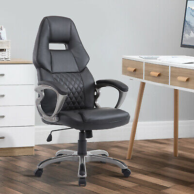 Computer Office Racing Chair Faux Leather PU Chairs Swivel Executive Furniture