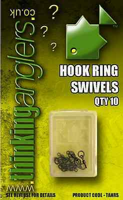 Thinking Anglers NEW Carp Fishing Hook Ring Swivel *Pack Of 10*