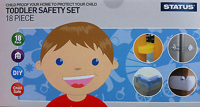 18pc Baby Toddler Safety Products Cupboard Table Door Latch Socket Protector Kit
