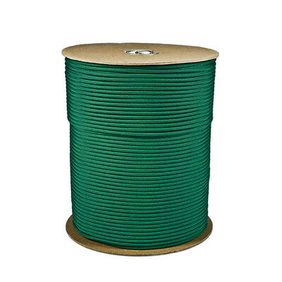 Kelly Green Paracord 1000 FT Spool 550 Parachute Cord 7 Strand Type III