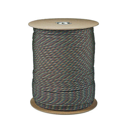Camo Pattern Paracord 1000 FT Spool 550 Parachute Cord 7 Strand Type III