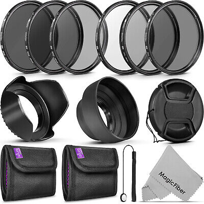 58MM Filter Kit UV CPL ND4 & ND 2 4 8 for Canon Rebel T6i T6s T5i T5 T4i T3i