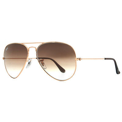 RayBan RB3025 001/51 BrownLens, Gold Metal Frame, Unisex 58mm Aviator Sunglasses