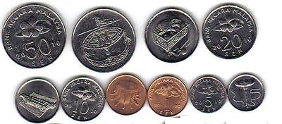 Malaysia: 5-Piece ~Uncirculated Coin Set, 1 To 50 Sen