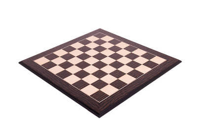 Tiger Ebony & Maple Standard Traditional Chessboard - 1.875""