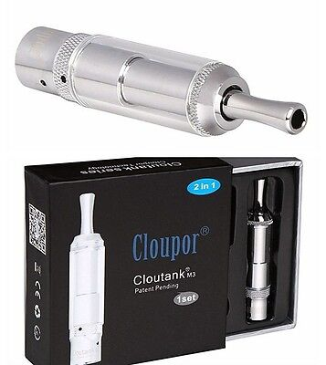 Authentic Cloupor Cloutank M3 Dry Herb Wax Vaporizer Tank 2in1  + 2 Extra Coil
