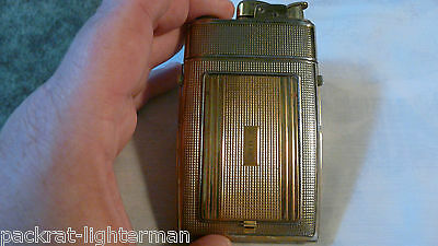 VINTAGE EVANS COMBINATION - LIGHTER, CIGARETTE  CASE, COMPACT WITH MIRROR.