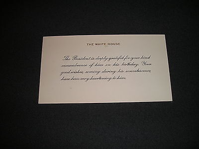 1955 Large White House Christmas Card President Dwight D – Birthday Card from the President