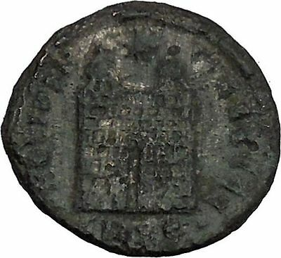 CONSTANTINE I the GREAT 324AD Ancient Roman Coin Military Camp gate  i44843