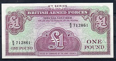 BRITISH ARMED FORCES. £1 Banknote. Series 4. Pristine. (a)