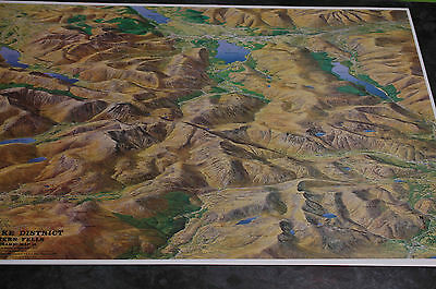 3D Aerial Panoramic Map of Lake District Western Fells No18 Unusual Gift Idea