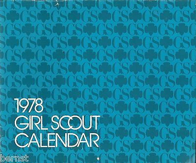 Vintage  Girl Scout - 1978 Girl Scout Calendar - Free Shipping