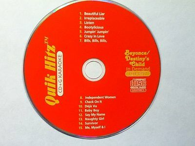 15 Great Karaoke CDG Songs Beyonce and Destiny's Child 4 Your CD+Graphics Player