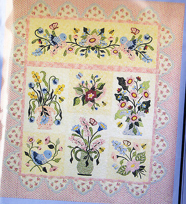 Fantasy Flowers - beautiful pieced & applique quilt PATTERN - P3 Designs
