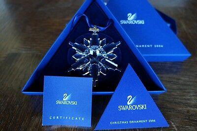 Swarovski 2006 Crystal Snowflake Christmas Ornament 837613  NIB AUTHENTIC