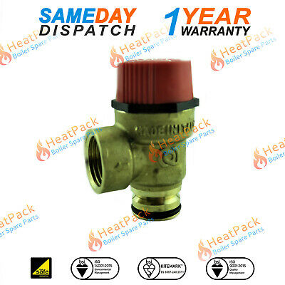 Baxi Combi 80E 105E &105HE 3 Bar Pushfit Pressure Relief Safety Valve PRV 248056