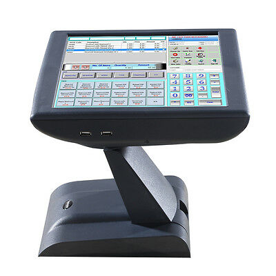 """New!  Restaurant Retail POS All in One Touch Screen System 15"""" Fanless 2 Yr Warr"""