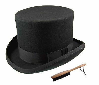 Quality Hand Made 100% Wool Top Hat Wedding Ascot Hat Many Colours S to XXL