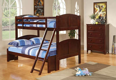 Twin Over Full Solid Pine Bunk Bed in a Cappuccino Finish by Coaster  460212
