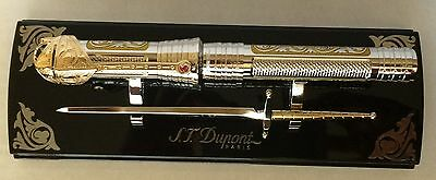 ST Dupont White Knight Writing Kit, Convertible Fountain Pen, C41004N New In Box