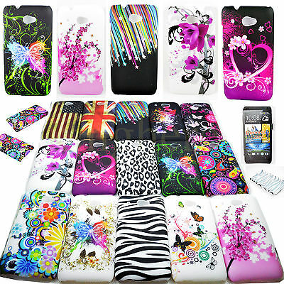 Flower Back Hard Plastic Protective Cover Case For HTC Desire 601 700 816 M7 M8
