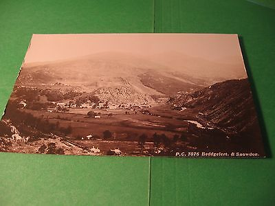 ANTIQUE UNCIRCULATED  REAL PHOTO ENGLISH POSTCARD - BEDDGELERT & SNOWDON