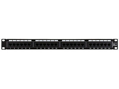 Monoprice 7255 Cat5 Enhanced Patch Panel 110Type 24 port (568A/B Compatible)