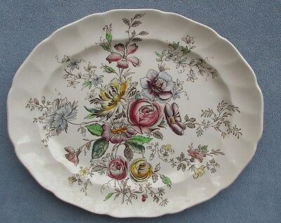 Johnson Brothers Sheraton Oval Serving 12 inch Platter England