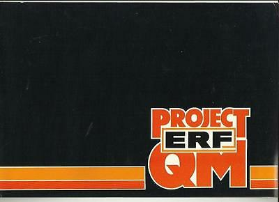 ERF PROJECT QM  TRUCK LORRY SALES BROCHURE LATE 70's