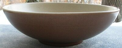 METLOX Poppytrail California Tempo Brown LARGE Round Salad Serving Bowl