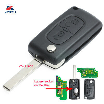 3 BUTTON FLIP Key Remote KEY ID46 433MHz for Peugeot 307 407